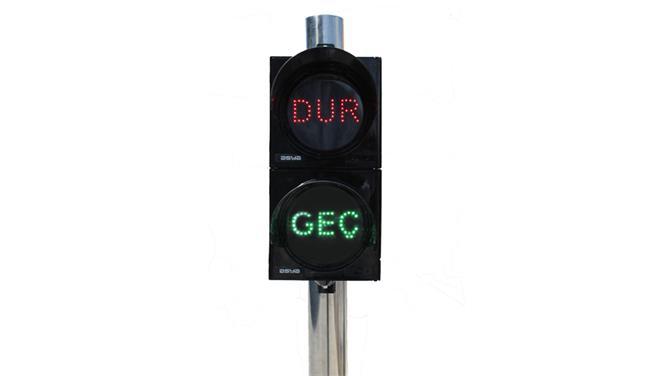 237762-200 mm Stop / Walk Signal Head with LEDs-Asya Traffic Inc.