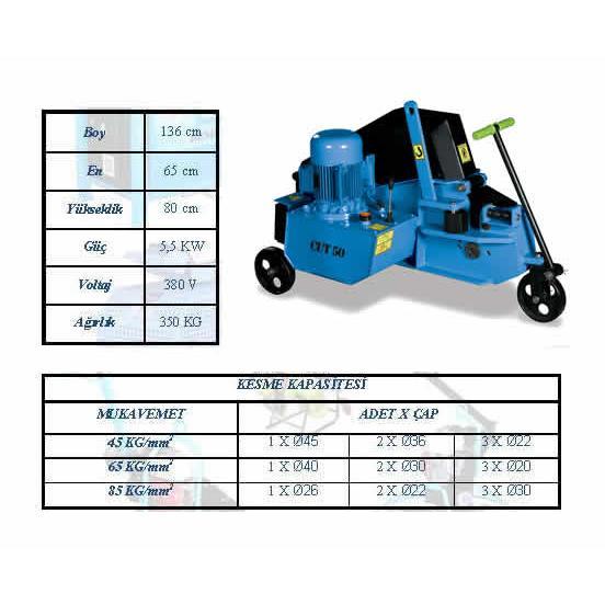 186176-Cut 50 Hydraulic Cutting Machine-MET-SA Makine Ltd. Sti