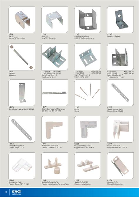 213174-ALUMINUM DOOR WINDOW ACCESSORIES-Ekol Aluminyum Pvc Ins. Ith. Ihr. San.ve Tic. Ltd.Sti.