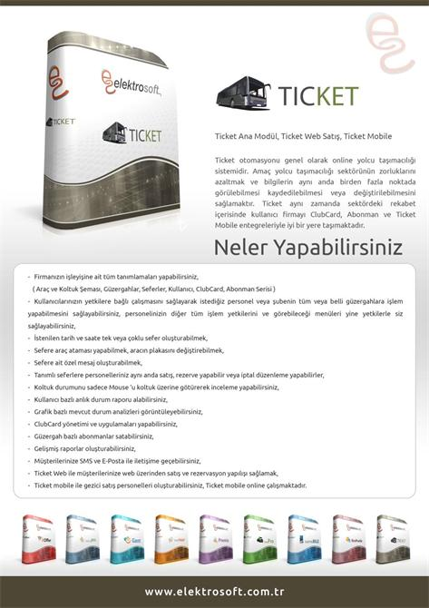 34289-Passenger Transportation Automation System - Ticket-Elektrosoft Bilisim Sistem Yazilim ve Otomasyon San. Tic. Ltd. Sti.