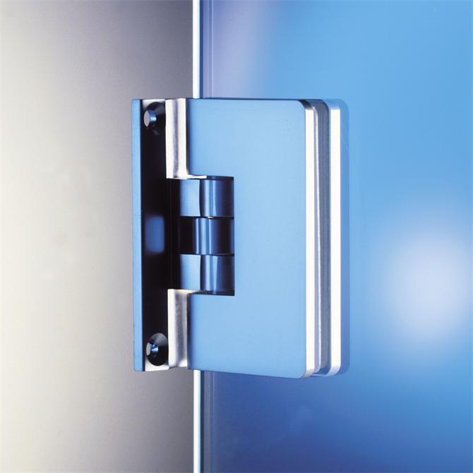 210240-8500R Adjustable Clicking Shower Hinge-BM Glass Hardware