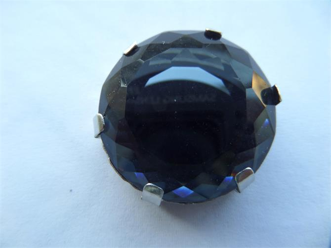 223764-Black Crystal Stone Textile and Shoe Accessory-Bahar Crystal Accessories