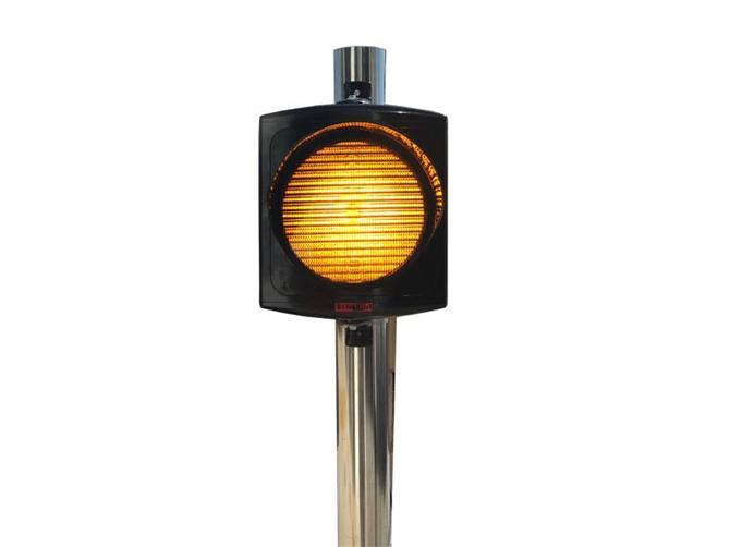 220224-200 mm Single Signal Head with Sintra Power LEDs-Asya Traffic Inc.