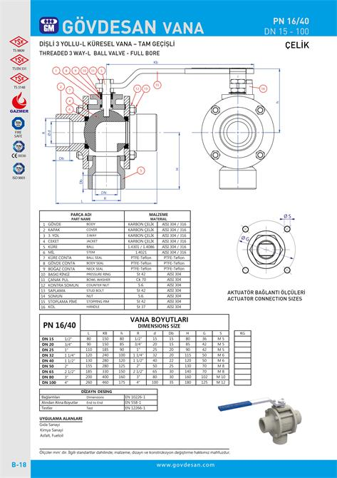 213485-PN 16/40 Threaded 3 Way-GOVDESAN MAKINA Elektronik Ins. Tur. Nakl. San. ve Tic. Ltd. Sti.