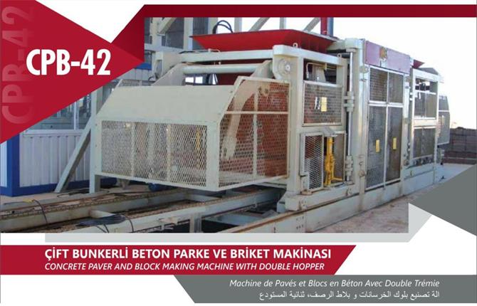 218485-double bunker concrete paving and briquetting machine-Ahi Kalip Ve Makina Sanayi Tic. Ltd. Sti.