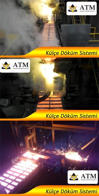 33493-Ingot casting system-ATM Atilim Technical Metal Recycling. Mak. Bookmarking. Sav. Singing. Imp. Exp. Tic. Ltd. Sti.