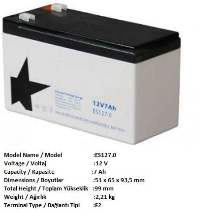237923-AGM 12V 7ah-POWER ELEKTRONİK SAN. VE TİC. A.Ş.