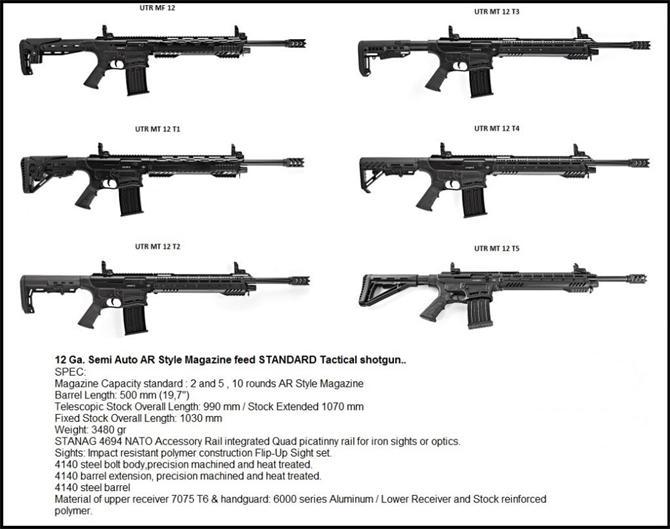218102-12 Caliber Semi Automatic Tactical Shotgun-ULTRON Defense Industry and Trade Inc.
