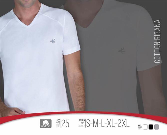 215429-V-Neck Men's Undershirt-Kozaluks Tekstil San. ve Tic. Ltd. Sti.