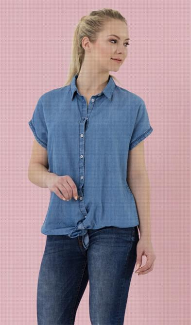 213217-Women's Short Sleeve Shirt-Iya Tekstil Sanayi Ve Ticaret Limited Sirketi