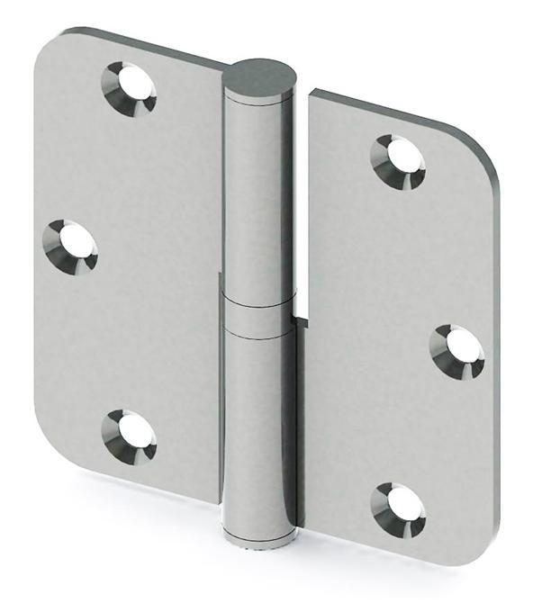 193263-Stainless Door Hinge 82x80x2,5 mm-Mensan Mentese San. ve Tic. Ltd. Sti.