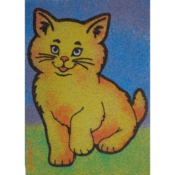 Cat Patterned Sand Painting Buy Cat Patterned Sand Painting