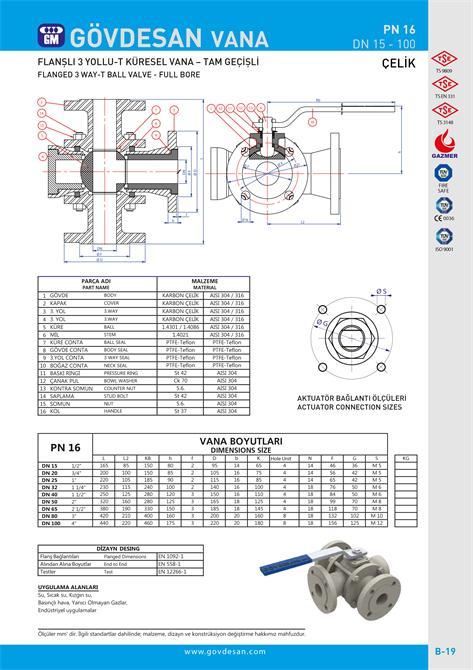 213484-PN 16 Flanged 3 Way-GOVDESAN MAKINA Elektronik Ins. Tur. Nakl. San. ve Tic. Ltd. Sti.