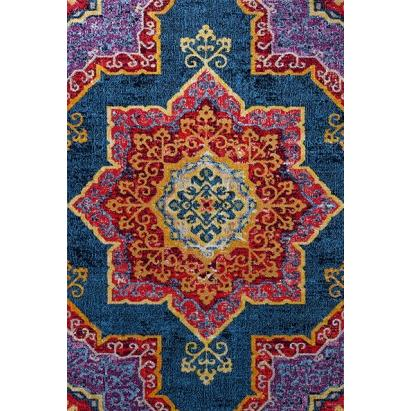 204179-Kaplanser Blue Patterned Carpet-Kaplanser Hali Gida Teks San. ve Tic. Ltd. Sti.