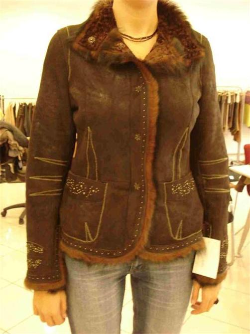 207399-Women's Short Leather Jacket-AKDEDE LEATHER TOURISM CONSTRUCTION INDUSTRY AND TRADE INC.