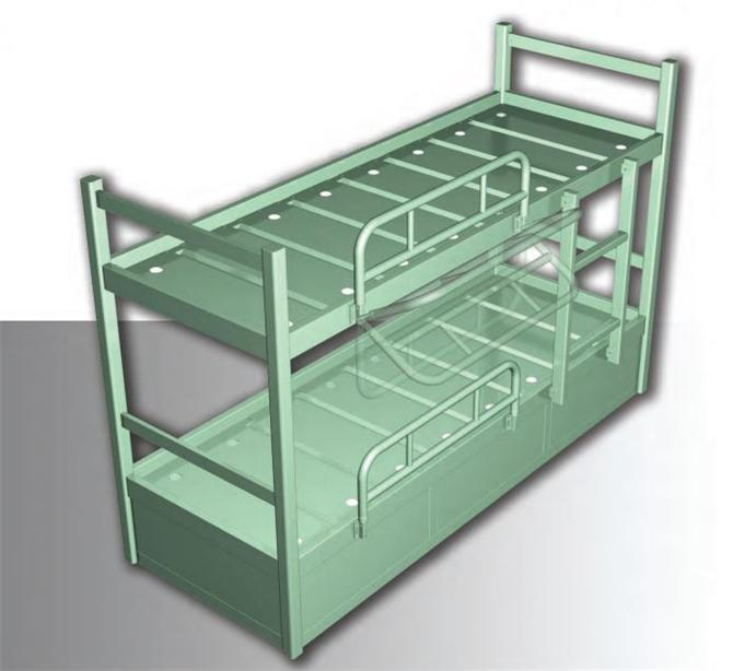 211306-Metal Vessel Furniture - Metal Double Bunk Bed-Meg Gemi ve Mak. San. Tic. Ltd.