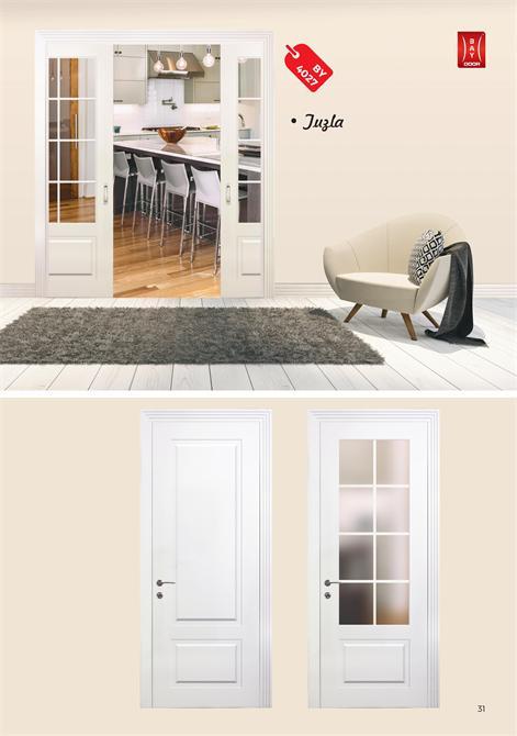 198889-BY 4027 DIAMOND SERIES WOODEN PAINTED INNER DOOR-Baydoor - Motif Decoration - Motif Group - Motif Kitchen Furniture Industry Limited Company