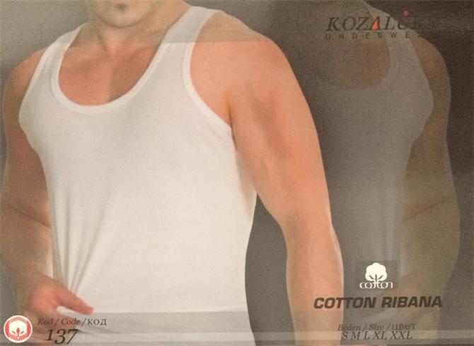 215481-Classic White Men's Singlet - 137-Kozaluks Tekstil San. ve Tic. Ltd. Sti.