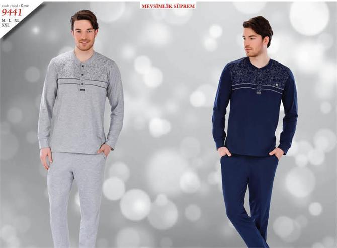 215327-Men's Sweat Suits - 9441-Kozaluks Tekstil San. ve Tic. Ltd. Sti.
