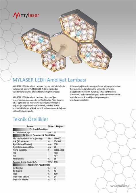 178922-Mylaser Led Surgical Lamp-Mylaser Mekanik Elektronik Optik ve Medikal Sistemleri Ltd. Şti.