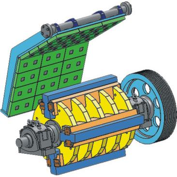 183552-Pendulum Adjusted Impact Crushers-Tek-El Makina Teknik Hirdavat San. Tic. Lit. Sti.