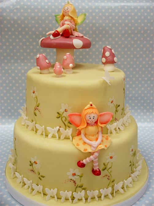 Amazing 2Storey Angel And Butterfly Birthday Cake Buy 2Storey Angel And Personalised Birthday Cards Petedlily Jamesorg
