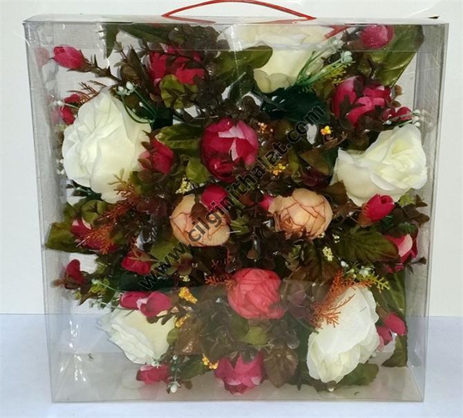 179821-Hazelnut Pastel Rose Door Wreaths-Çılgın Dizayn Tasarım Çiçekçilik ve Dış Tic. Ltd. Şti.
