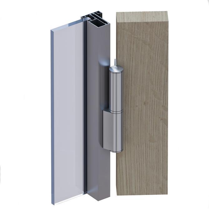 210050-Biloba Evo Hydraulic Hinge - For Frame or Wooden Doors-BM Glass Hardware