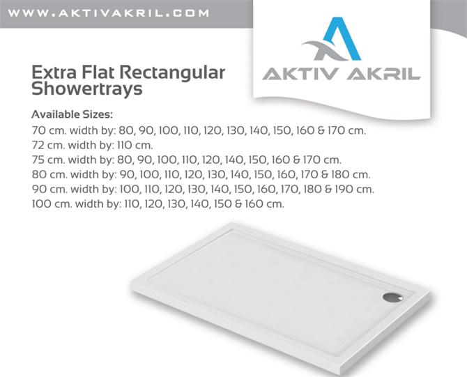 209815-Extra Flat Rectangular Showertrays-AKTIV-AKRIL ACRYLIC PRODUCTS BATH, JACUZZI INDUSTRY AND TRADE LTD.