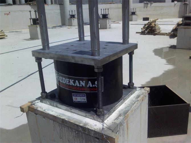 221979-Seismic Isolators - Seismic İsolation - LRB -(Lead Rubber Bearings) Isolator-OZDEKAN RUBBER CO. INC.