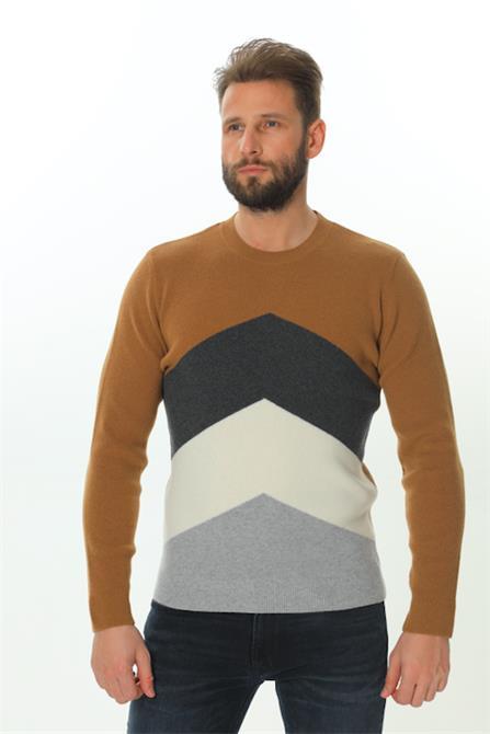 243667-Crew Neck Sweater-Pelin Triko A.Ş
