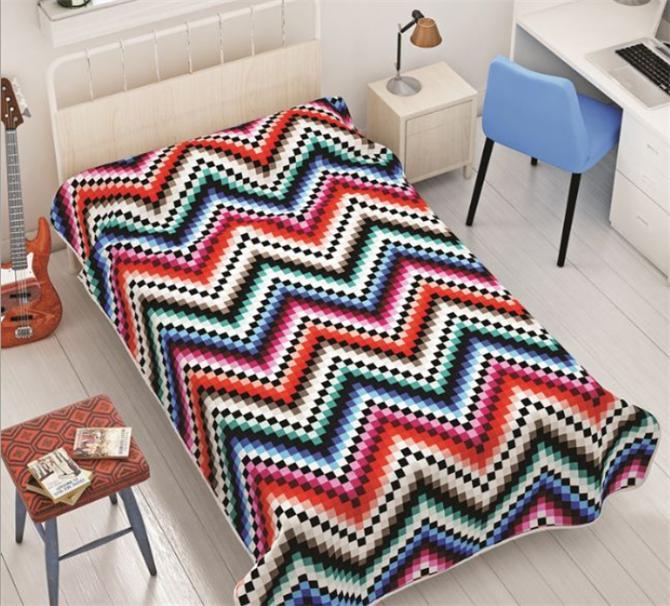 200468-Dormina Single Blanket-Dormina - Yentur Tekstil San. ve Tic. Ltd. Sti.