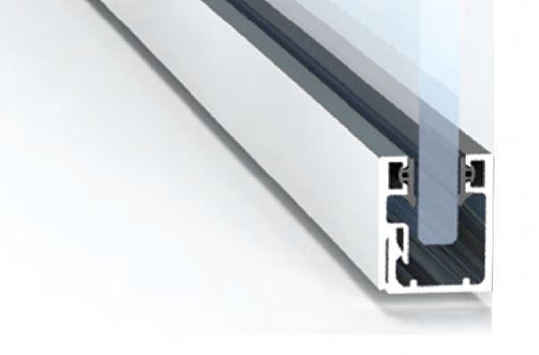 213684-Crystalline Slim Aluminium Profile for Glass Walls-BM Glass Hardware