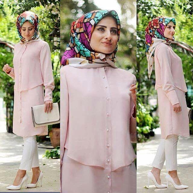 173142-Powder Pink Woman Tunik-Bulem Collection