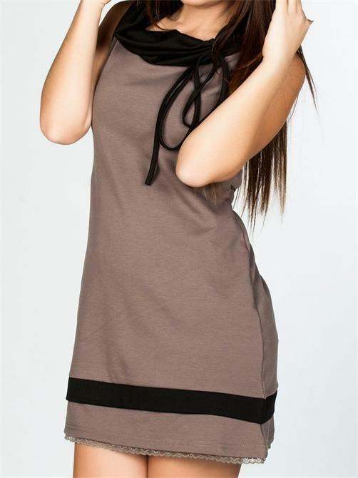 efed87d93e47d Bej ve siyah renkli spor-şık elbise - ürününü globalpiyasa.com da ...