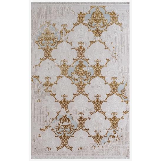 200145-Hunkar Series Beige Blue Carpet-Karmen Tekstil San. ve Tic. Ltd. Sti.