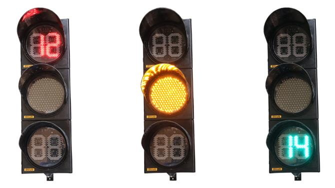 237590-200-300 mm  Vehicle Signal Head With Red And Green Countdown Timer-Asya Traffic Inc.