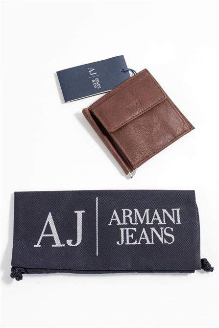 37169-Armani leather wallet - brown-Heart Eclipse - Bestas A. S.