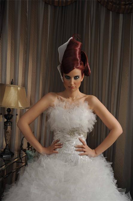 11697-Strapless, tulle wedding dress-Cigdem Metin Moda Evi