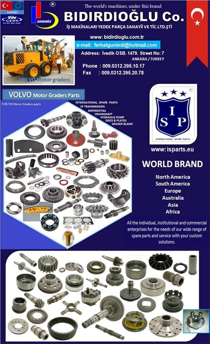 214273-Volvo Spare Parts-BIDIRDIOGLU BUSINESS MACHINES SPARE PARTS AND TRADE LTD. STI.