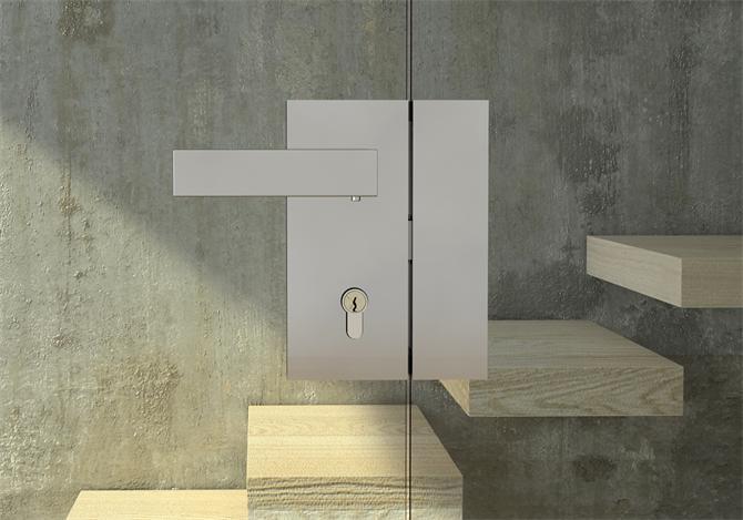 213794-Italian Design Vertical Door Lock - Glass to Glass-BM Glass Hardware