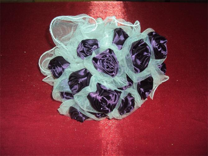 10826-Purple tulle flower engagement-Nirvana Moda Tasarim