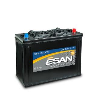 209626-12 V 75 AH Cylindrical - Low-Battery Battery - Flat Normal Battery-Esan Akumulator ve Malzemeleri San. Tic. A.S.