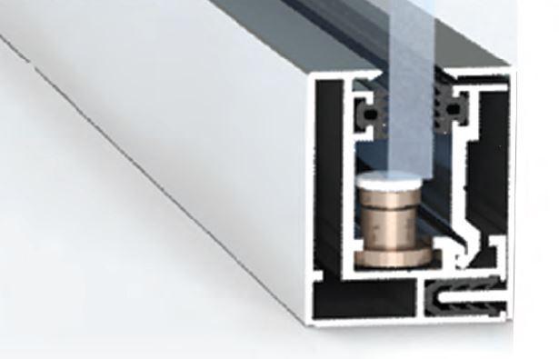 "213685-""POISE"" System Aluminium Profile for Glass Walls-BM Glass Hardware"