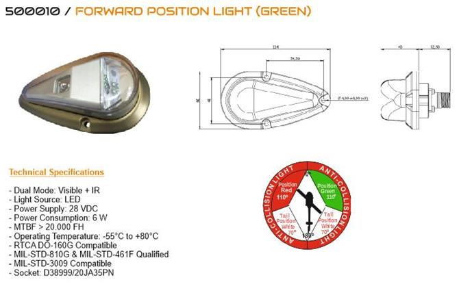 229732-FORWARD LOCATION LIGHT (GREEN)-TEKOM SAVUNMA VE HAVACILIK SANAYI A.S