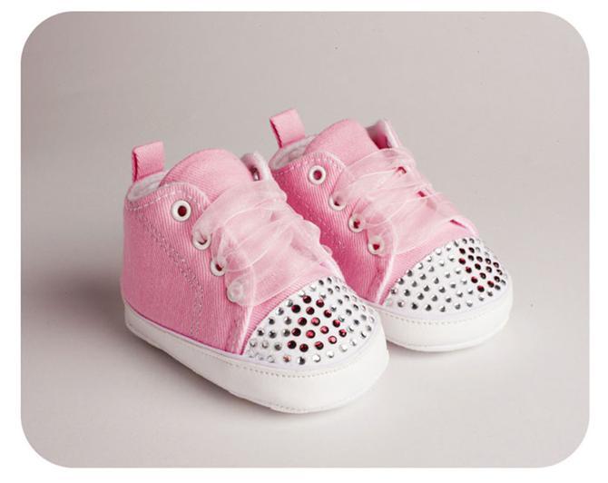 bd2c042cb12247 12262-Baby girl pink stone converse shoes-Freesure - Sindrella Bebe  Aksesuarlari