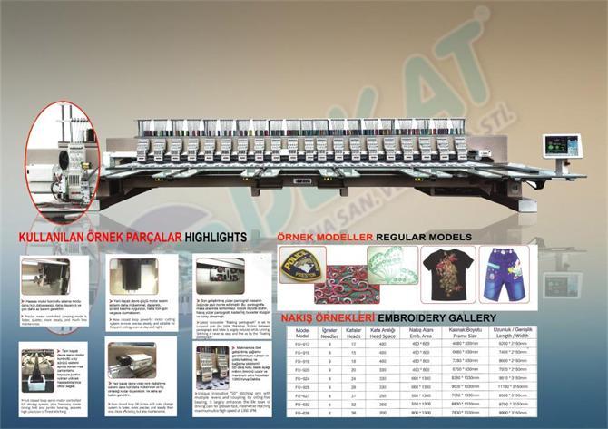 218388-1350 SPEED HIGH SPEED EMBROIDERY MACHINE-Dekat Makina Sanayi ve Ticaret. Ltd. Sti.