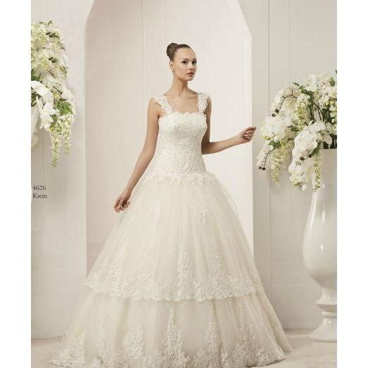 Embroidered Lace Halter Wedding Dress