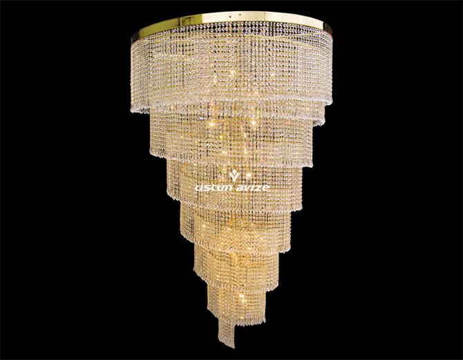 20165-100 The spiral chandelier ceiling lamps-Ustun Avize Aydinlatma Sanayi ve Ticaret A.S.