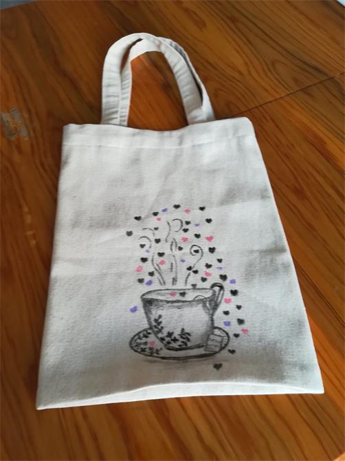 241017-coffee illustrated cloth bag-Gulseren Akdas